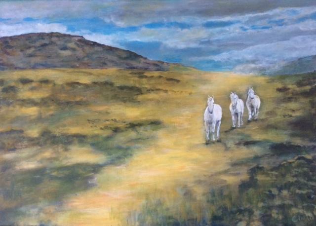 Horses in Irish Landscape 18
